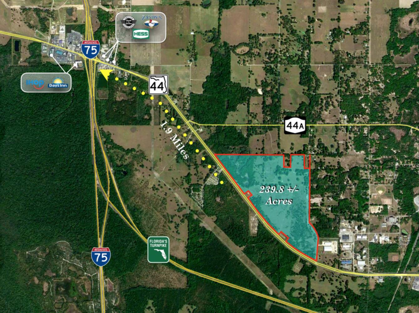 Wildwood Florida Map.239 8 Ac Industrial Site I 75 Fl Turnpike Totalcommercial Com