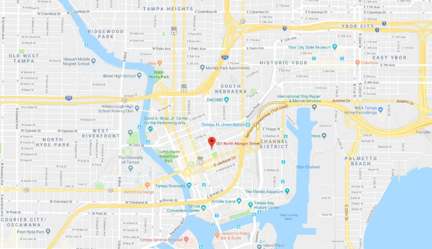 5,734 SF Raw/Vanilla S Downtown Tampa - TotalCommercial.com on sandcastle water park map, metro atlanta map, d.c. metro map,